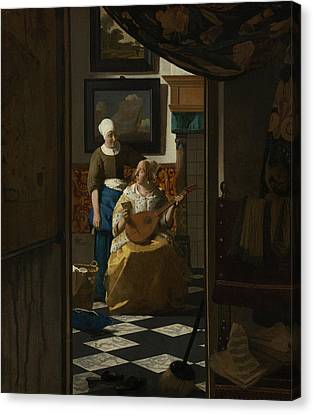 The Love Letter Canvas Print by Jan Vermeer