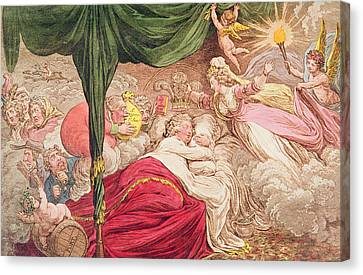 The Lovers Dream Canvas Print by James Gillray
