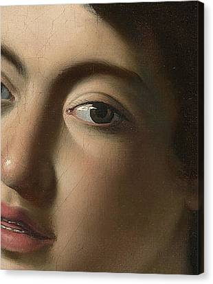 The Lute Player   Detail Canvas Print by Caravaggio