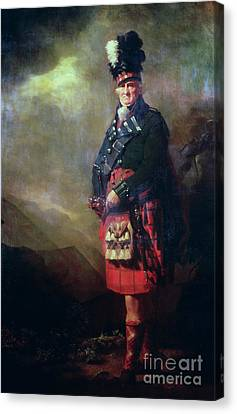 The Macnab Canvas Print by Sir Henry Raeburn
