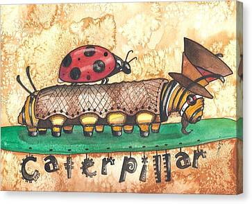 The Mad Caterpillar Canvas Print by Sheri Athwal