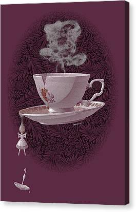 The Mad Teacup - Rose Canvas Print by Swann Smith