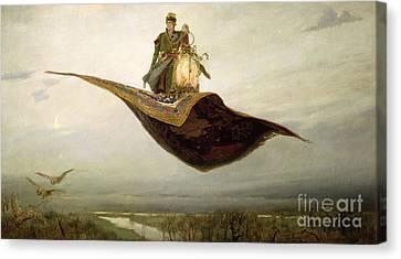 The Magic Carpet Canvas Print by Apollinari Mikhailovich Vasnetsov