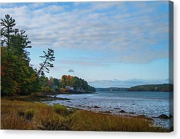 The Maine Coast Near Edgecomb  Canvas Print by Tim Kathka