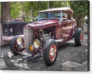 The Maroon Ford Hot Rod Canvas Print by Thom Zehrfeld