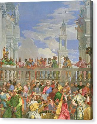 The Marriage Feast At Cana Canvas Print by Veronese