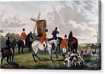 The Meet Canvas Print by William Joseph Shayer