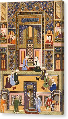 The Meeting Of The Theologians Canvas Print by Abd Allah Musawwir