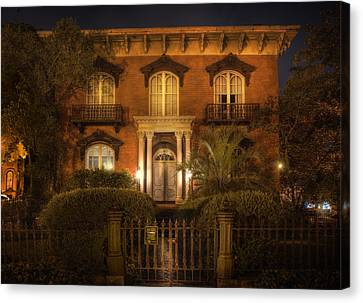 The Mercer House Canvas Print by Mark Andrew Thomas