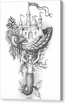 The Mermaid Fantasy Canvas Print by Adam Zebediah Joseph