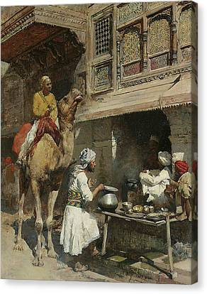 The Metalsmith's Shop  Canvas Print by Edwin Lord Weeks