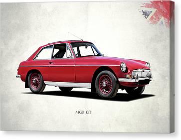 The Mgb Gt Canvas Print by Mark Rogan
