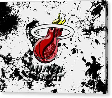 The Miami Heat 1c Canvas Print by Brian Reaves