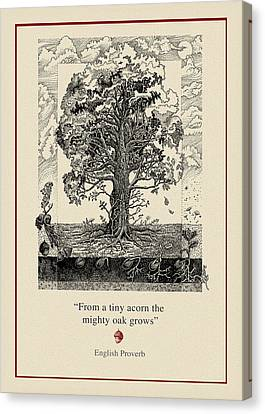 The Mighty Oak Canvas Print by Ernestine Grindal