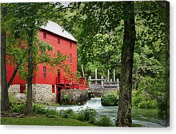 The Mill At Alley Spring Canvas Print by Cricket Hackmann