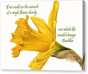 The Miracle Of A Single Flower Canvas Print by Sarah Batalka