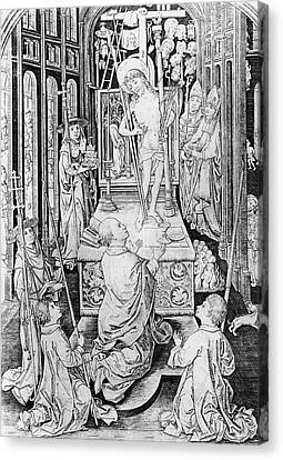 The Miracle Of Transubstantiation Canvas Print by German School