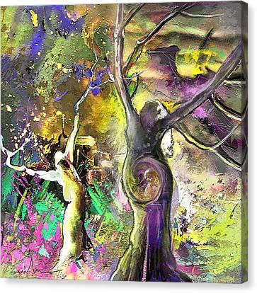 The Miraculous Conception Canvas Print by Miki De Goodaboom