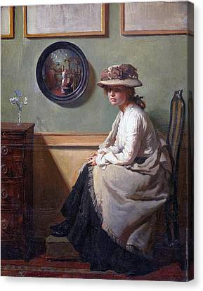 The Mirror  Canvas Print by William