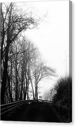 The Mistery Road Canvas Print by Max Rastello