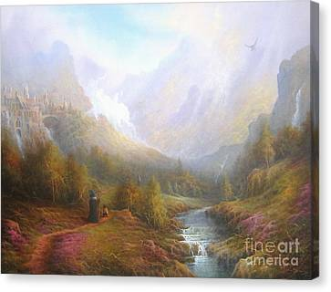The Misty Mountains Canvas Print by Joe  Gilronan