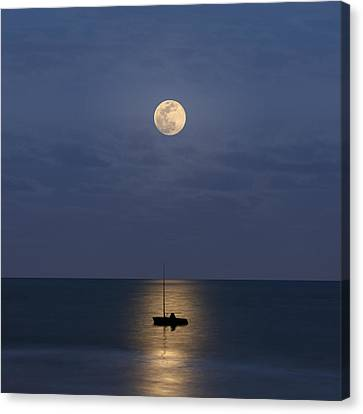 The Moon Guide Us Canvas Print by Carlos Gotay
