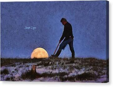 The Moon Keeper - 3 Of 7 Canvas Print by Leonardo Digenio
