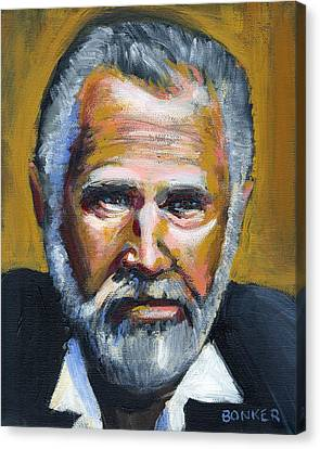 The Most Interesting Man In The World Canvas Print by Buffalo Bonker