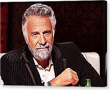 The Most Interesting Man In The World Canvas Print by Queso Espinosa
