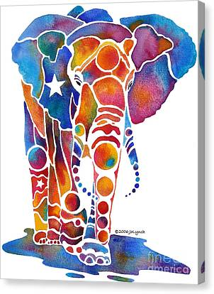The Most Whimsical Elephant Canvas Print by Jo Lynch