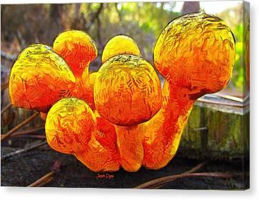 The Mushroom 9 - Pa Canvas Print by Leonardo Digenio