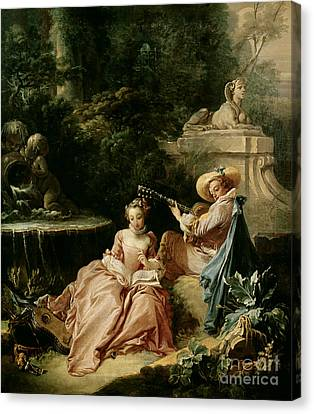 The Music Lesson Canvas Print by Francois Boucher