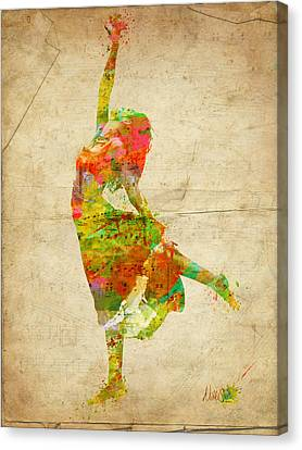 The Music Rushing Through Me Canvas Print by Nikki Smith
