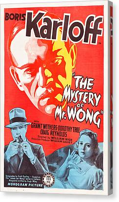 The Mystery Of Mr Wong Canvas Print by Mountain Dreams