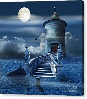 The Mystical Place At Sea Canvas Print by Monika Juengling