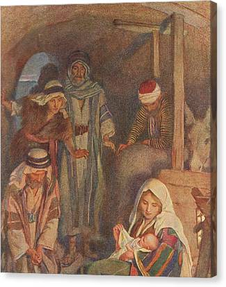 The Nativity Canvas Print by Harold Copping