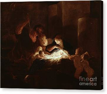The Nativity Canvas Print by Pierre Louis Cretey or Cretet