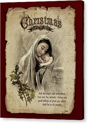 The Nativity Canvas Print by Ray Downing
