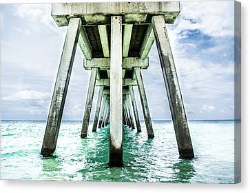 The Navarre Fishing Pier  Canvas Print by Shelby  Young