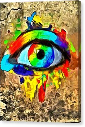 The New Eye Of Horus - Da Canvas Print by Leonardo Digenio