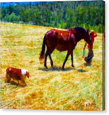 The New Mare And The Perfect Summer Day Canvas Print by Anastasia Savage Ealy