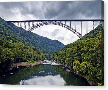The New River Gorge Bridge In West Virginia Canvas Print by Brendan Reals