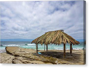 The New Surf Hut At Windandsea Canvas Print by Peter Tellone