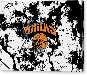 The New York Knicks 1c Canvas Print by Brian Reaves