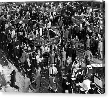 The New York Stock Exchange, New York Canvas Print by Everett