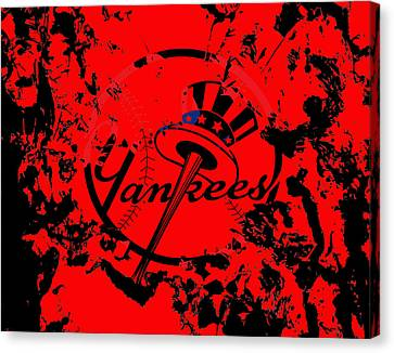 The New York Yankees 1a Canvas Print by Brian Reaves