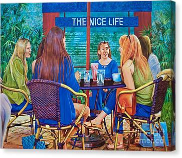 The Nice Life Canvas Print by AnnaJo Vahle