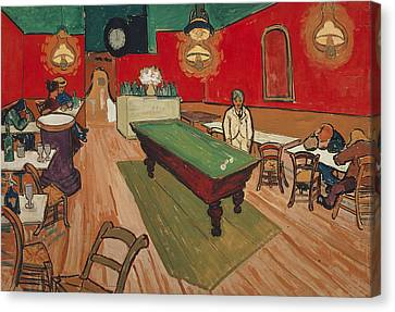 The Night Cafe In Arles Canvas Print by Vincent van Gogh