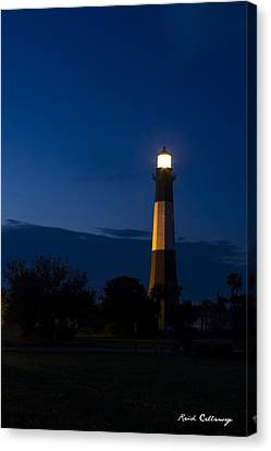 The Night Watcher Tybee Island Lighthouse Canvas Print by Reid Callaway