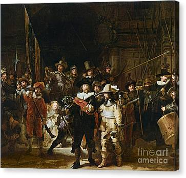 The Nightwatch Canvas Print by Rembrandt